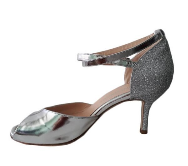 Made in Italy Silver Tango Shoe for women. jpg 22 KB