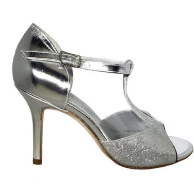 Closed heel tango shoe, silver, made in Italy, jpg 133 KB