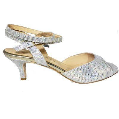 low heel silver tango shoe, jpg 200 KB