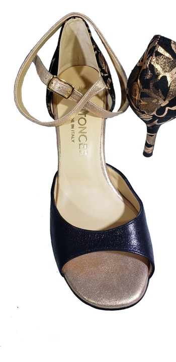 tango shoe, closed heel cage. Yovals. Entonces, TangoTana, Made in Italy